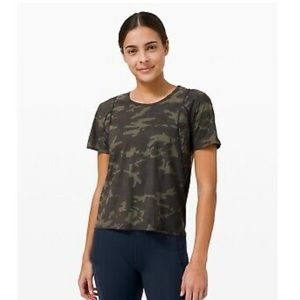 RARE CAMO Lululemon Outrun The Heat Short Sleeve